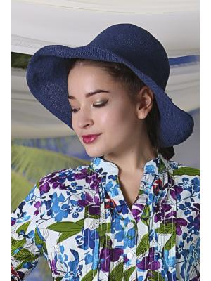 Шляпа-панама с контрастным бантом Jolie 1120-b