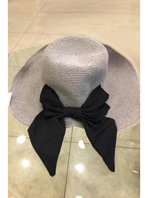 Шляпа-панама с контрастным бантом Jolie 1120-g