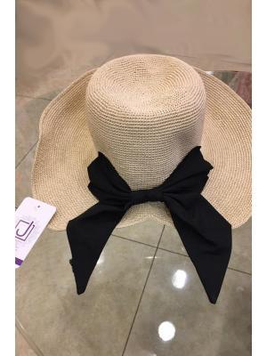 Шляпа-панама с контрастным бантом Jolie 1120-p