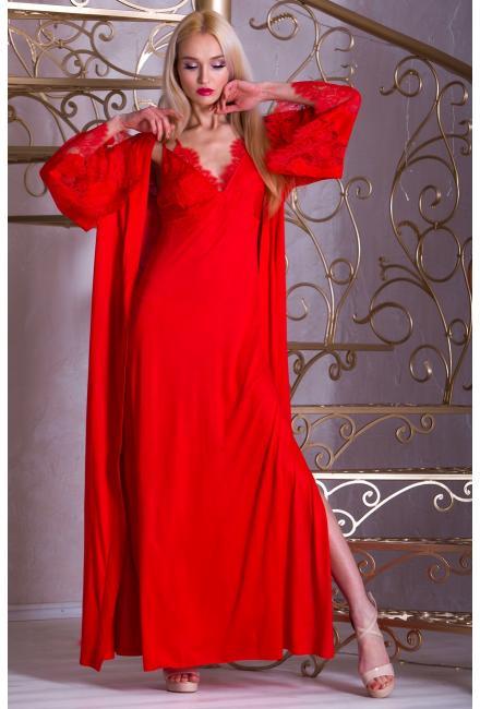 Длинный домашний халат Suavite-Аврора-h-dl