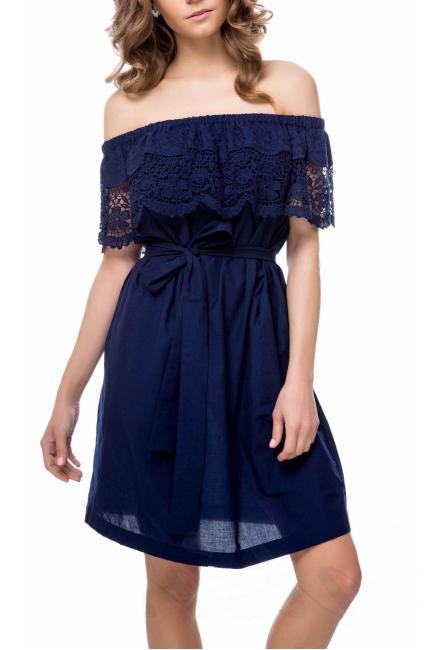 Платье-туника с кружевной оборкой Suavite 12333