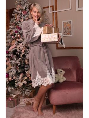 Домашний серый халат Suavite Mariel-grey