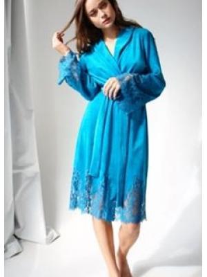 Домашний бирюзовый халат Suavite Mariel-hkb