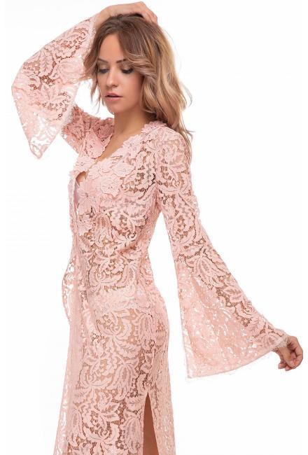 Пляжная гипюровая туника розовая Suavite 136243