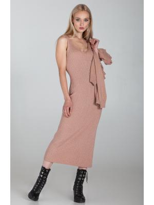 Женский костюм (Платье, свитер) 991-smokyrose