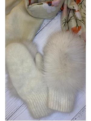 Зимние варежки с натуральным мехом J9318m