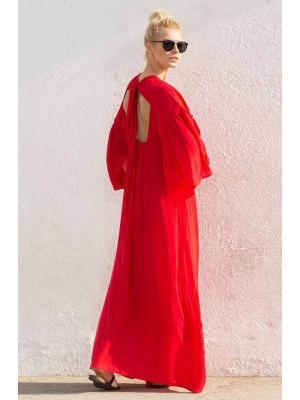 Длинное красное платье Touche OF290-91